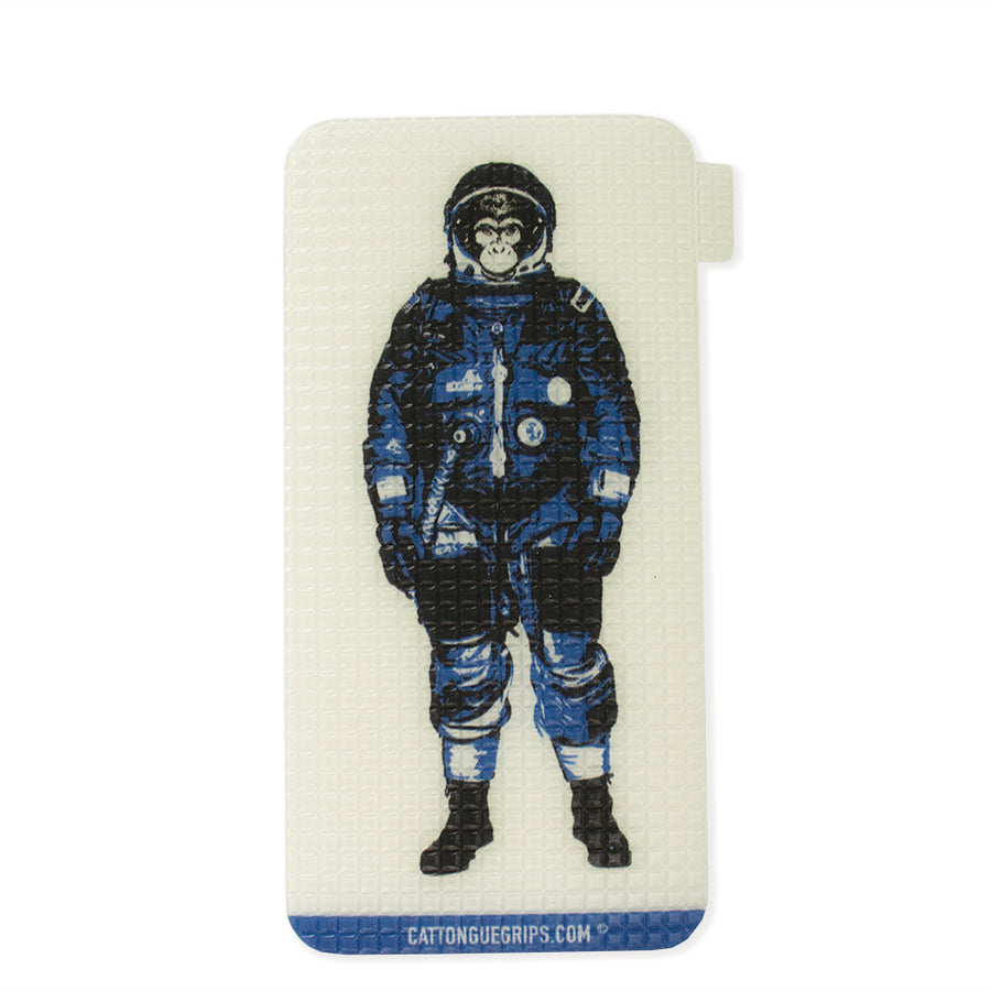 Astronaut monkey inspired cell phone grip