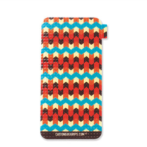 Aztec design inspired cell phone case grip