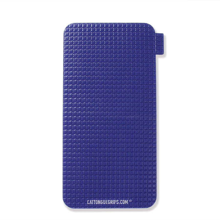 Large blue cell phone grip by Cat Tongue Grips