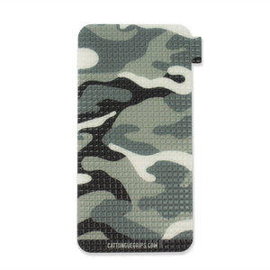 Grey camo mobile phone grip for your cell phone