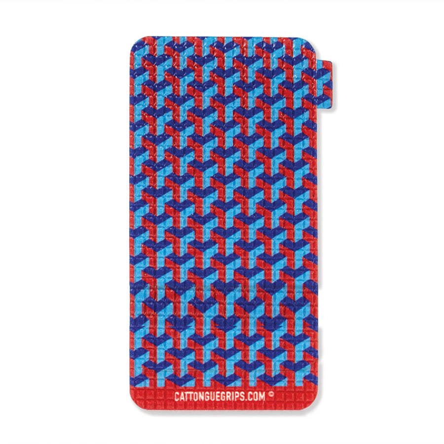 Geometric block inspired cell phone grip