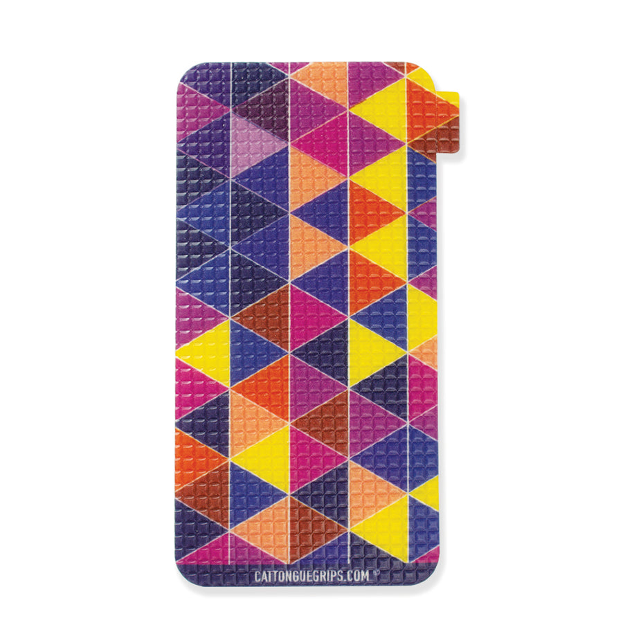 Graphic triangle cell phone grip for all your devices