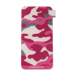 Pink camo inspired mobile phone grip for all your cellular devices