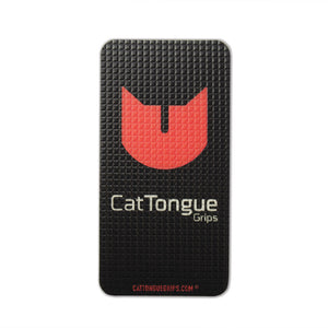 Cell phone grip for your device or case with the CatTongue logo