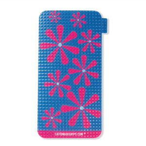 Retro Flower inspired cell phone grip for your mobile device