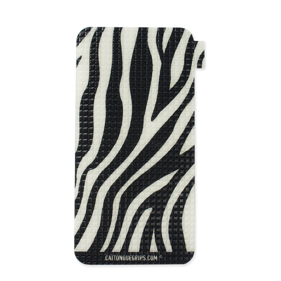 Zebra inspired mobile device grip