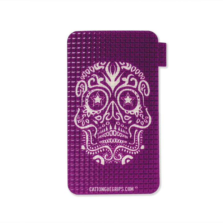 Purple skull inspired cell phone grip for your mobile device