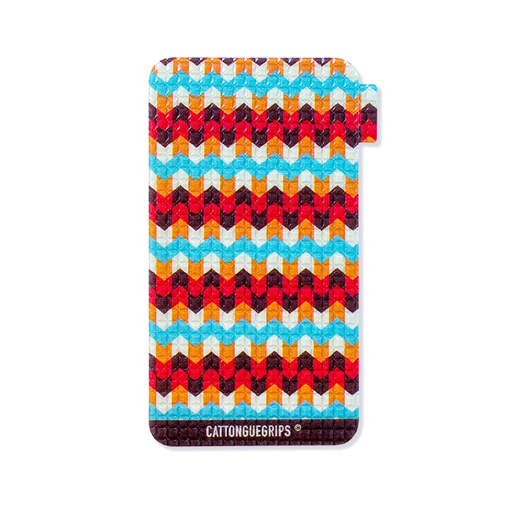 Small mobile phone grip with aztec design