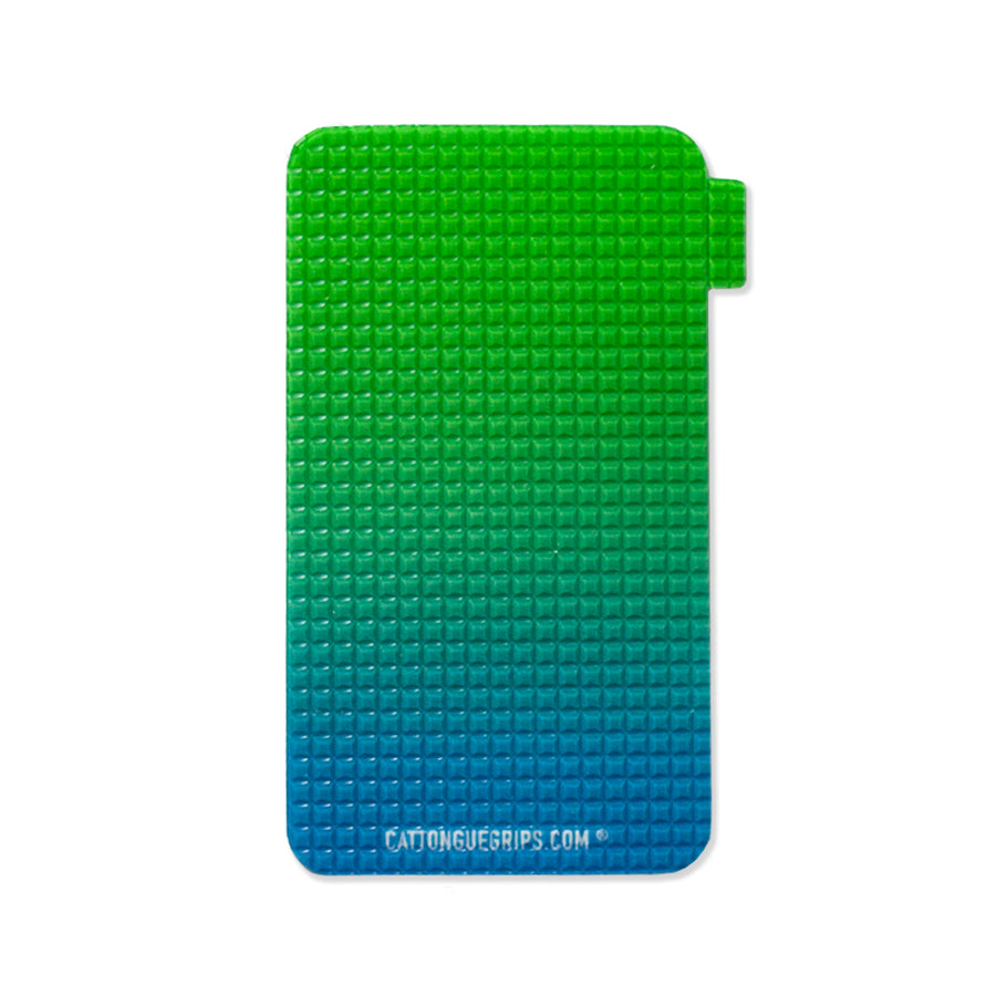 CatTongue Grips cell phone grip with a blue green gradient