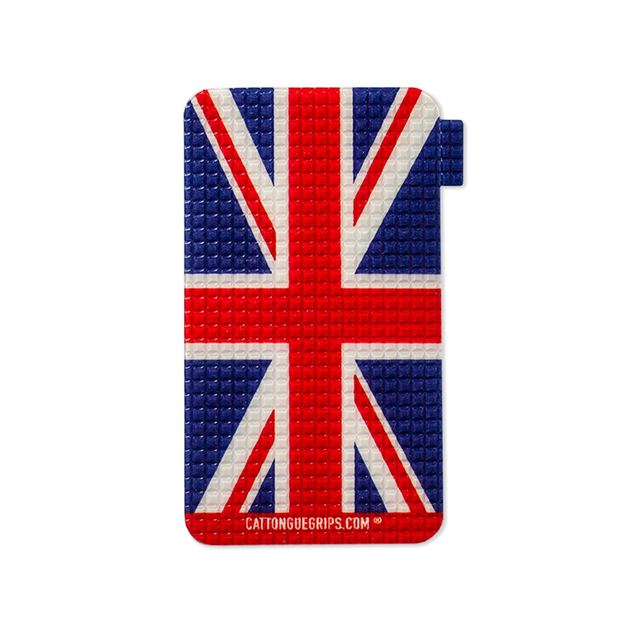 Cell phone grip with the union jack flag for mobile devices