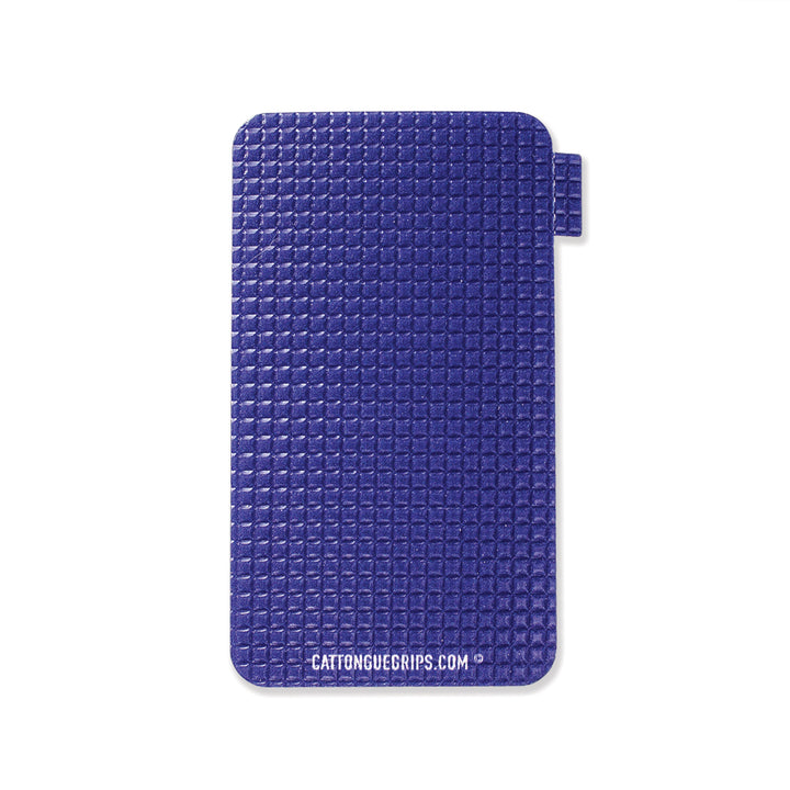 Small blue cell phone grip by Cat Tongue Grips