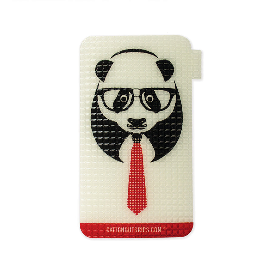 Panda graphic on a great mobile phone grip!