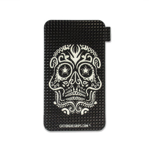 Black skull pattern on our cell phone grips for maximum GRIPTION