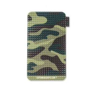 Camouflage inspired cell phone grip for a great hold on your device