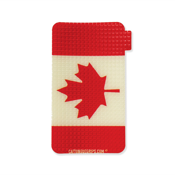 Canadian flag inspired cell phone grip