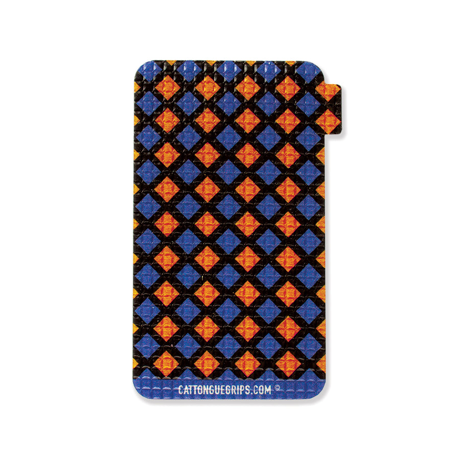 Colorful diamond pattern cell phone grip