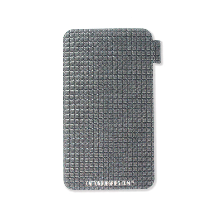 Grey cell phone grip that matches the iphone