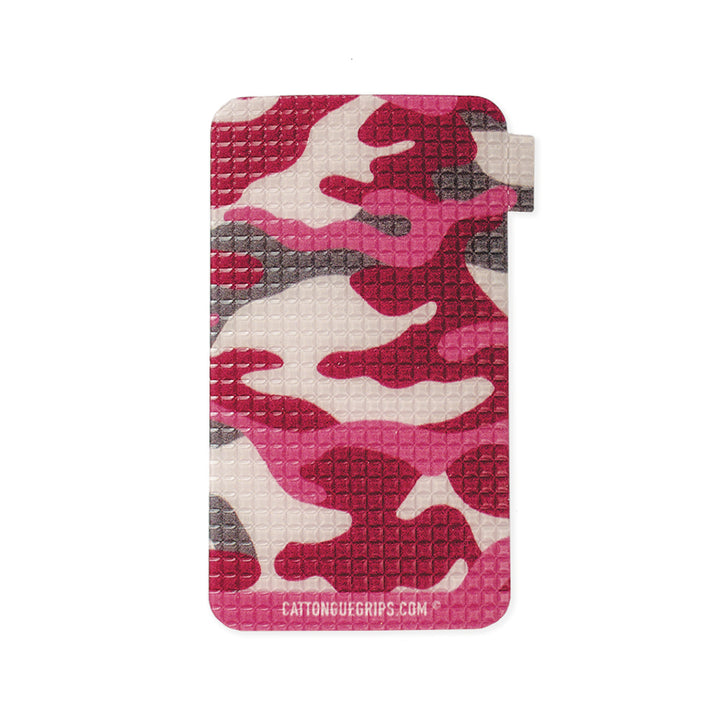 Pink camo inspired cell phone grip for all your mobile devices