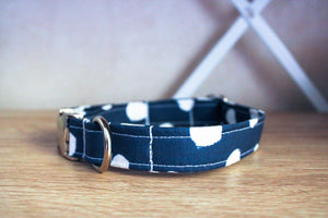 Navy Baby: Handmade Dog Collar