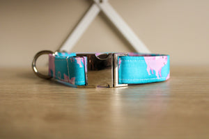 Flying Pigs: Handmade Dog Collar