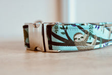 Load image into Gallery viewer, Steady on Sloth: Handmade Dog Collar
