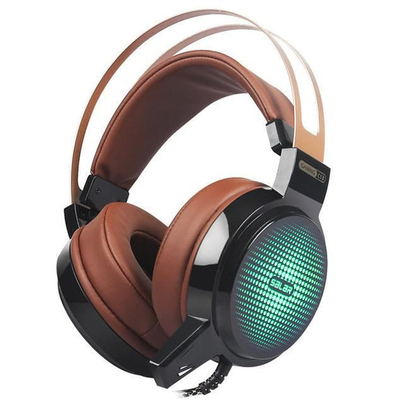 High Quality Deep Bass Gaming Headset With Led Light Brown / China