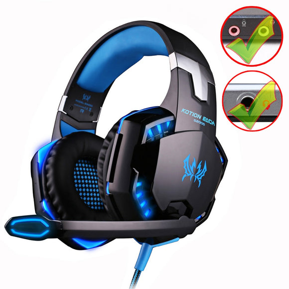 Deep Bass Stereo Gaming Headset Led Light