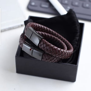 Gelang Kulit ISHIYA WOVEN Leather 316L