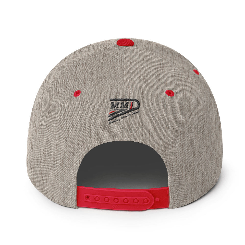 MMD 3D Red / Grey Snapback Hat - Making Moves Daily