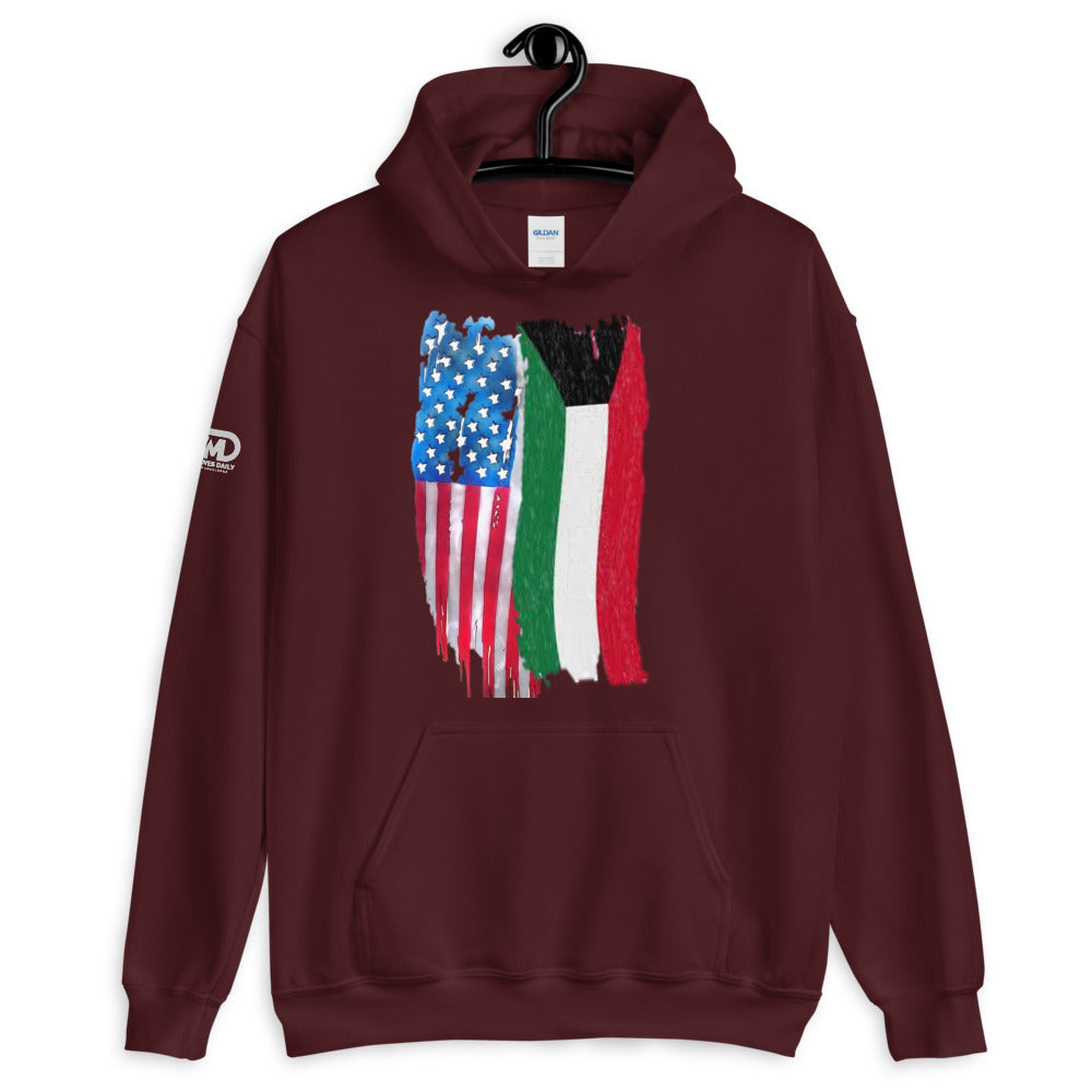 US and KW Flag Hoodie - Making Moves Daily
