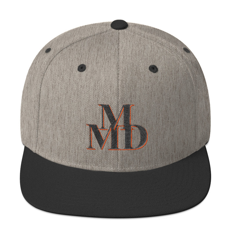 Snapback MMD Black and Orange Hat - Making Moves Daily