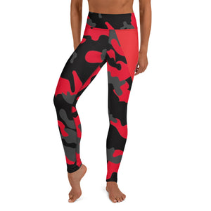 MMD Red Camo High Waist Leggings - Making Moves Daily