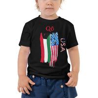 Kuwait USA Flag MMD Toddler Short Sleeve Tee - Making Moves Daily