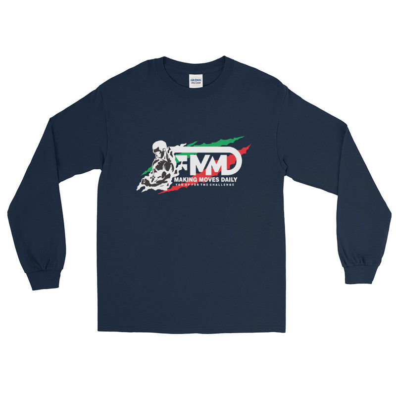 MMD Muscle Man Long Sleeve T-Shirt with back print - Making Moves Daily
