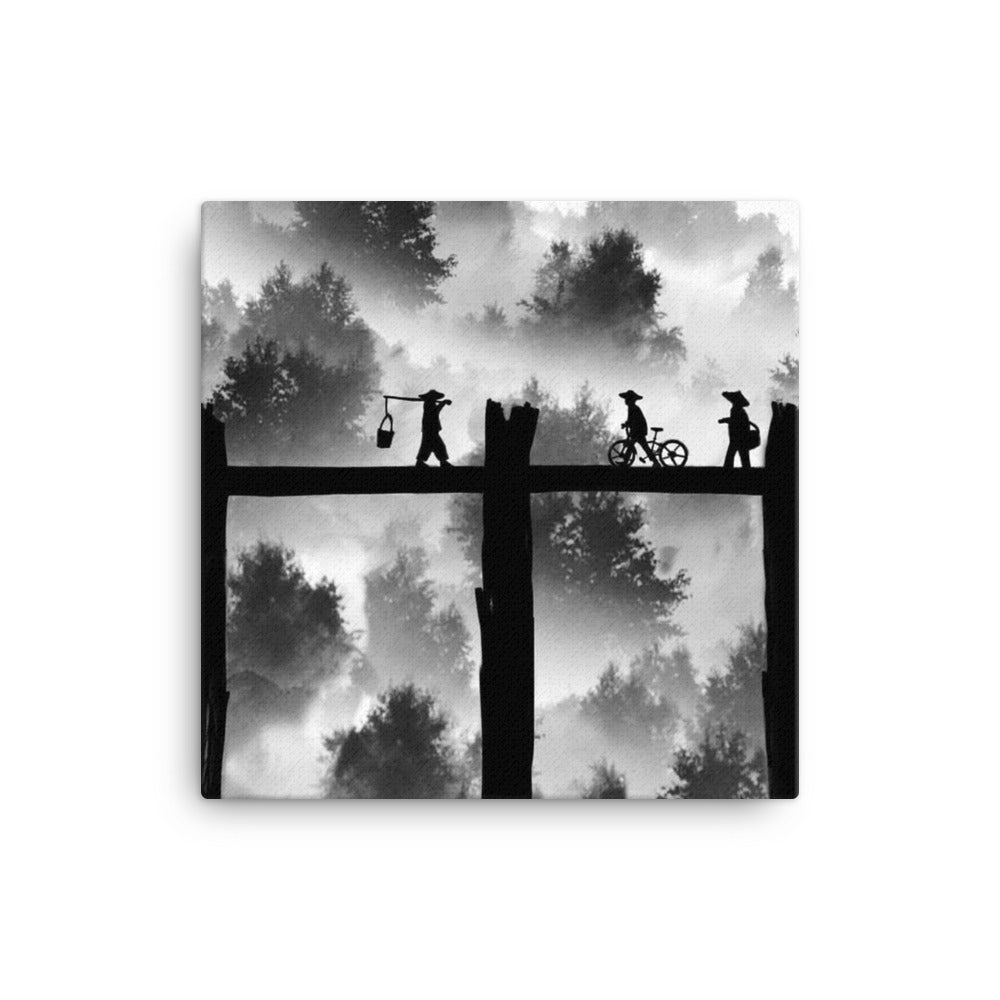 Walking Bridge Canvas - Making Moves Daily
