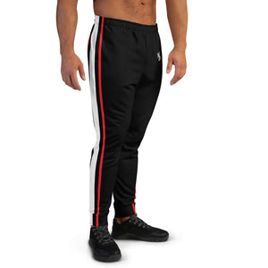 MMD Black Jogger with Red and White Stripe - Making Moves Daily