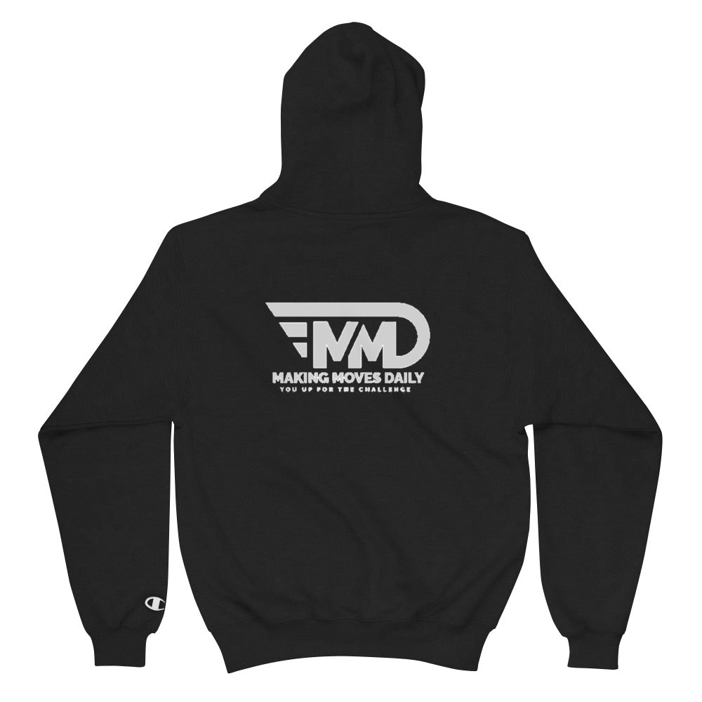 MMD Champion Hoodie Black Logo - Making Moves Daily