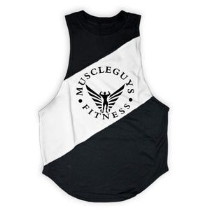 Muscle Tank Tops w/ Hoodi and Center Print - Making Moves Daily