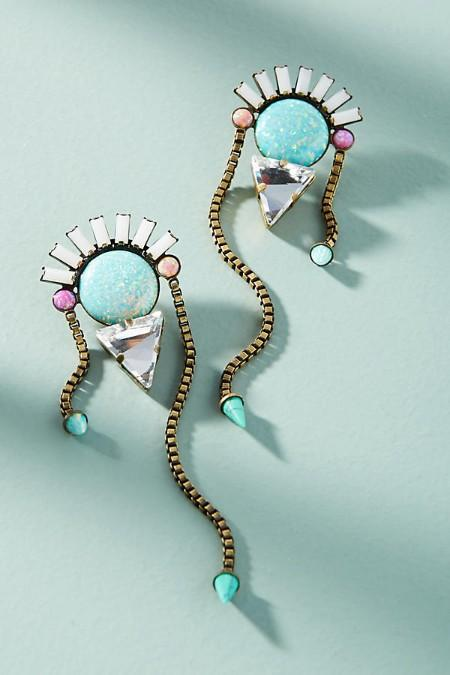 Stones from the Sea Statement Earrings