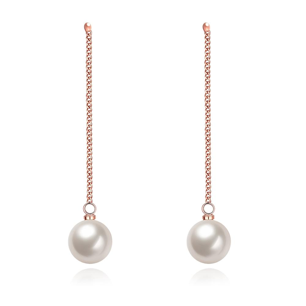 Freshwater Pearl Dangling Link Earrings