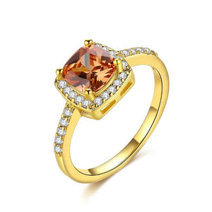 Morganite Halo Cut Ring Pav'e Ring in Gold