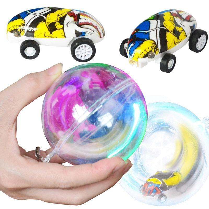 (Best Gift!) MINI 360 ROTATING LASER CHARIOT HIGH-SPEED CAR TOYS