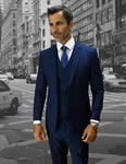 3 PC Solid Slim Fit Suit