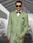 3PC Regular Fit Suit w/ Pleated Pants