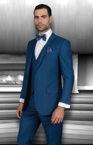 3PC Solid Slim Fit Suit