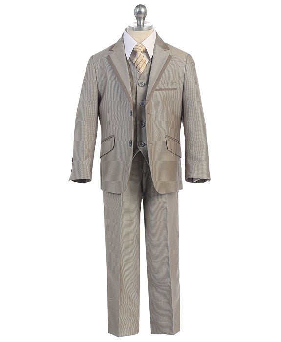 Boys Slim Cut 5-PC Suit 458