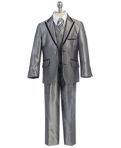 Boys Slim Cut 5-PC Suit 630