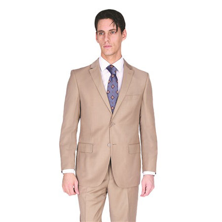 C67901-11 Carlo Lusso Collection 2-PC Men's Suit - Tan