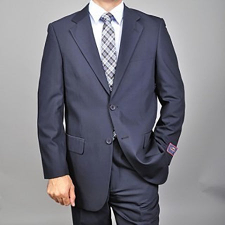 C67901-2 Carlo Lusso Collection 2-PC Men's Suit - Navy