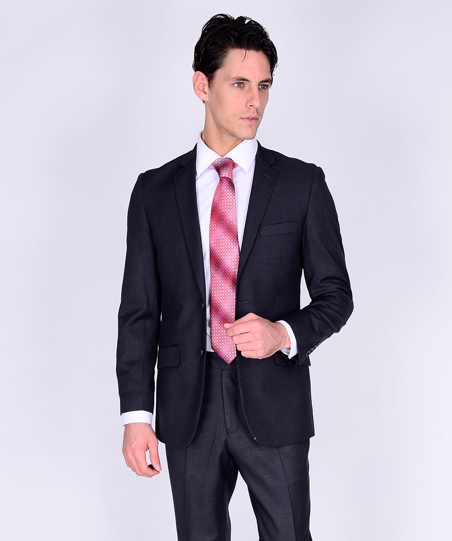 C67901-3 Carlo Lusso Collection 2-PC Men's Suit - Charcoal Gray
